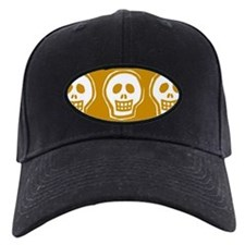 Skull on yellow background Baseball Hat