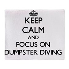 Keep Calm by focusing on Dumpster Di Throw Blanket