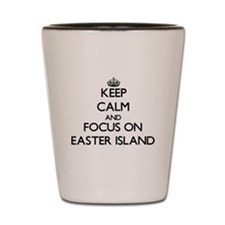 Keep Calm by focusing on Easter Island Shot Glass