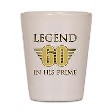 60th Birthday Legend Shot Glass