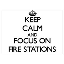 Keep Calm by focusing on Fire Stations Invitations