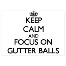 Keep Calm by focusing on Gutter Balls Invitations