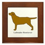 Chocolate Labrador Retriever Framed Tile