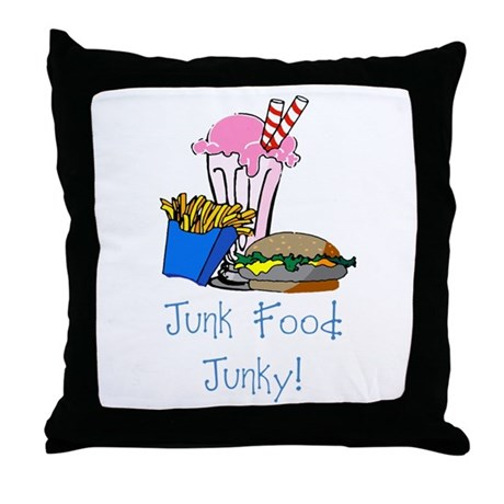 Junk Food Junky Throw Pillow