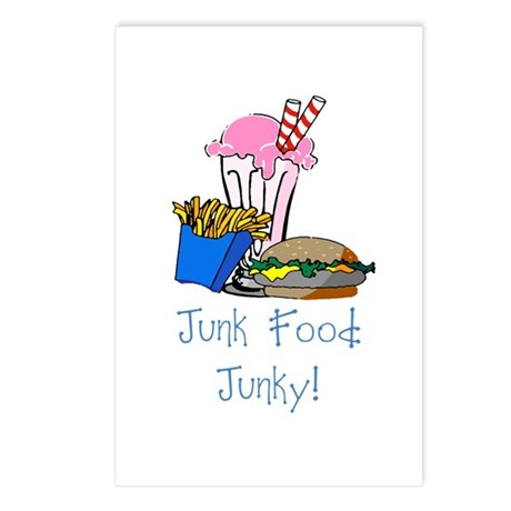 Junk Food Junky Postcards (Package of 8)