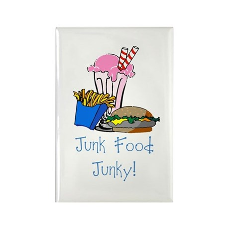 Junk Food Junky Rectangle Magnet