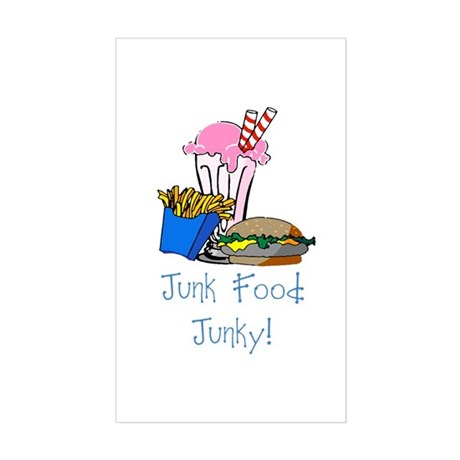 Junk Food Junky Rectangle Sticker