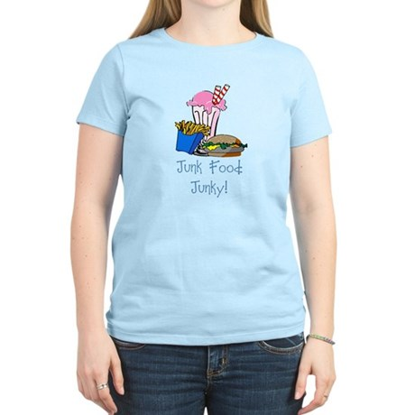 Junk Food Junky Women's Light T-Shirt