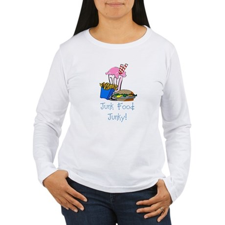 Junk Food Junky Women's Long Sleeve T-Shirt