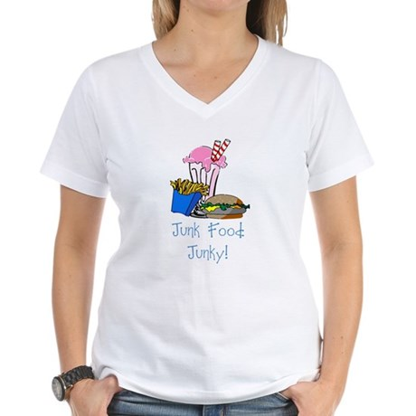 Junk Food Junky Women's V-Neck T-Shirt