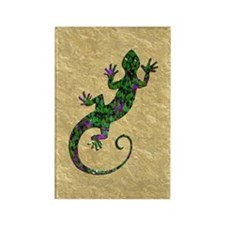 Ivy Green Gecko Rectangle Magnet