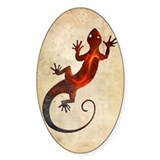 Fire Red Gecko Decal