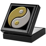 Gold/Silver Yin/Yang Keepsake Box