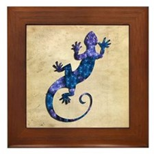 Blue Gecko Framed Tile