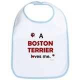 A Boston Terrier Loves Me Bib
