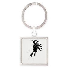 Black Flying Robot Keychains