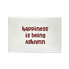 happiness is being Ashlynn Rectangle Magnet