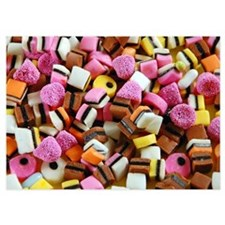 Colorful licorice candy Invitations