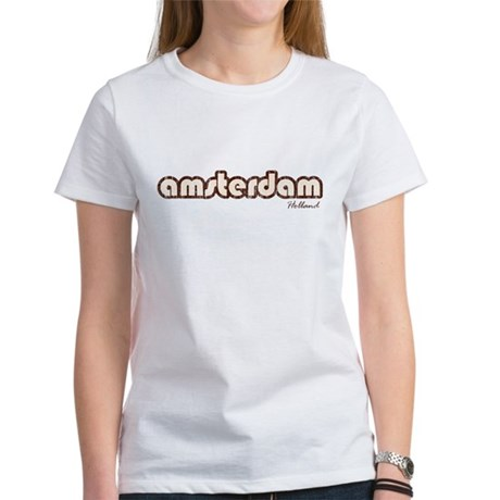 Amsterdam Holland (Vintage) Womens T-Shirt