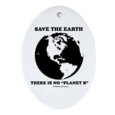 "Save the Earth, there is no ""Planet B"" Ornament (O"