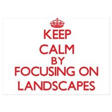 Keep Calm by focusing on Landscapes Invitations