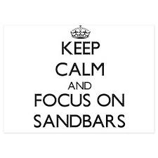 Keep Calm by focusing on Sandbars Invitations