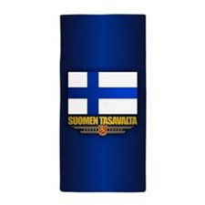 Flag of Finland Beach Towel