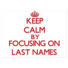Keep Calm by focusing on Last Names Invitations