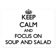 Keep Calm by focusing on Soup And Sala Invitations