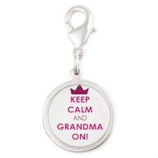 Keep Calm and Grandma On Charms