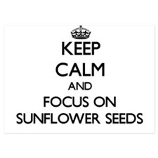Keep Calm by focusing on Sunflower See Invitations