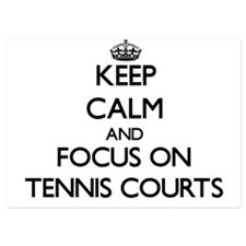 Keep Calm by focusing on Tennis Courts Invitations