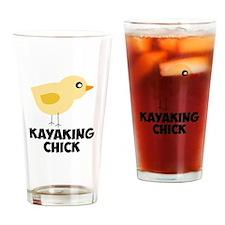 Kayaking Chick Drinking Glass