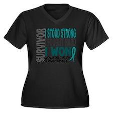 D Survivor 4 Ovarian Cancer Plus Size T-Shirt