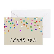 Confetti Thank You Greeting Cards