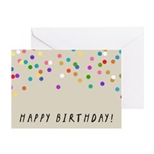 Confetti Happy Birthday Greeting Cards