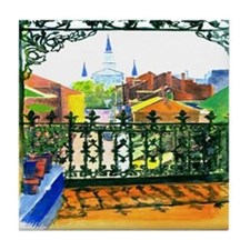 French Quarter Street Tile Coaster