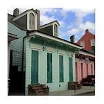 New Orleans Cottages Tile Coaster