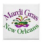 Mardi Gras Tile Coaster