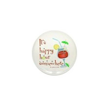 It's 5 O'Clock Somewhere Mini Button (100 pack)