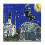 Starry Night Square Tile Coaster