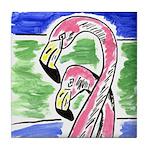 Two Flamingos Tile Coaster