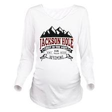 Jackson Hole Vintage Long Sleeve Maternity T-Shirt