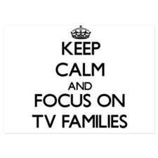 Keep Calm by focusing on Tv Families Invitations