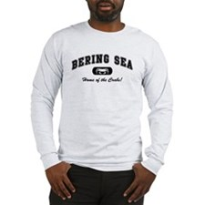 Bering Sea Home of the Crabs! Black Long Sleeve T-