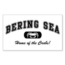 Bering Sea Home of the Crabs! Black Decal