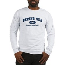 Bering Sea Home of the Crabs! Navy Long Sleeve T-S