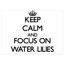Keep Calm by focusing on Water Lilies Invitations