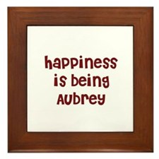 happiness is being Aubrey Framed Tile
