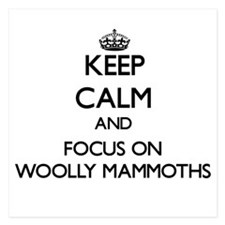 Keep Calm by focusing on Woolly Mammot Invitations